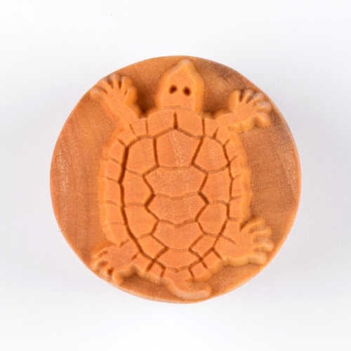 Scl-018 Large Round Stamp - Snapping Turtle