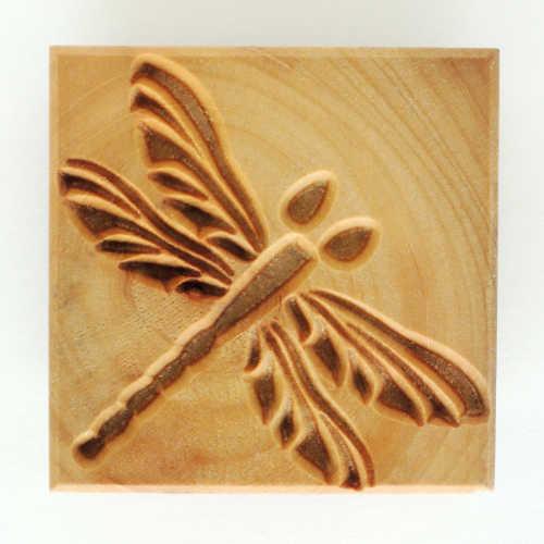 Ssl-005 Large Square Stamp - Dragonfly