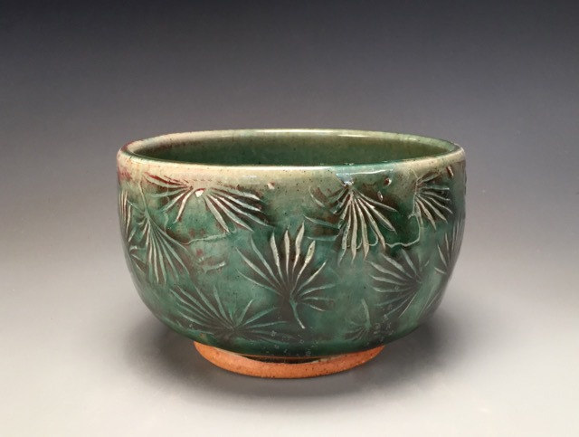 Angie Bougie's bowl textured with HR-004