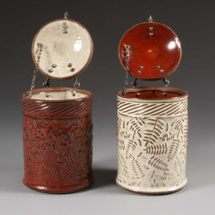 Julie Olson's jars HR-009 and HR-017