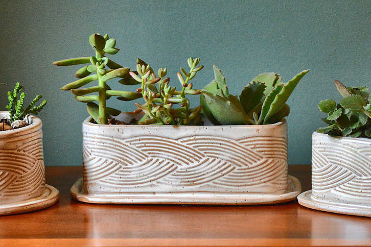 Nancy Addison's planter textured with the RL-003