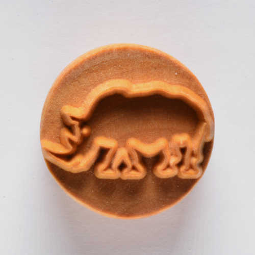 Rhino Pottery Stamp