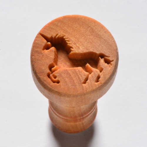 Debossed Unicorn Pottery Stamp