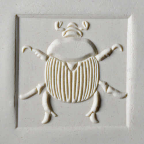 Large Square Scarab Pottery Stamp