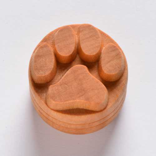 Dog Paw Print Pottery Stamp