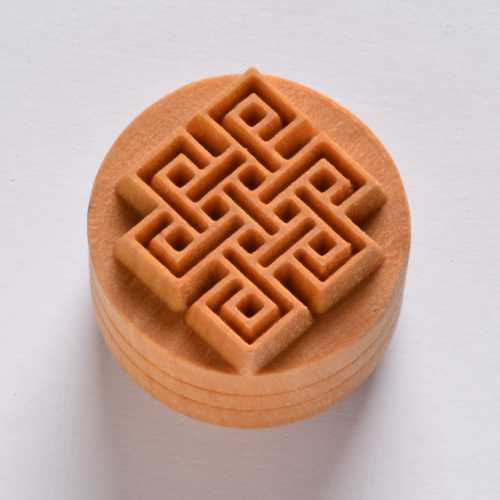 Square Knot Pottery Stamp