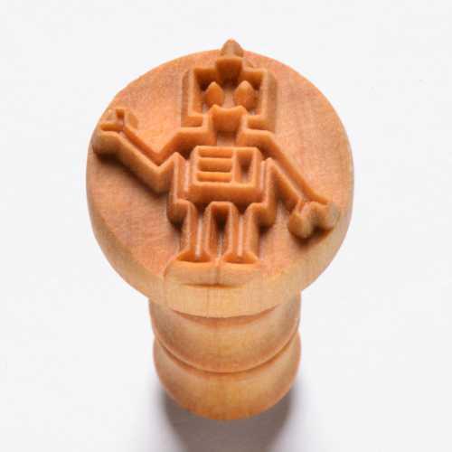 Bob the Robot Pottery Stamp