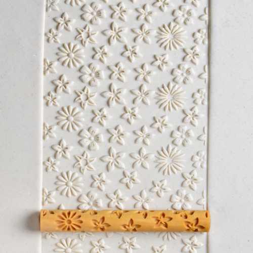 Flower Clay Texture Roller